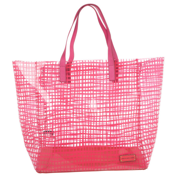 Marc by Marc Jacobs Pink Check Transparent Tote