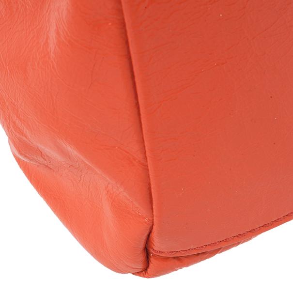 Marc by Marc Jacobs Vibrant Orange Classic Q Baby Aidan Satchel