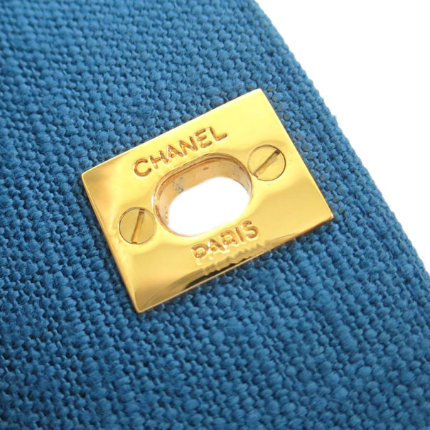 Chanel Blue Denim Single Flap Shoulder Bag