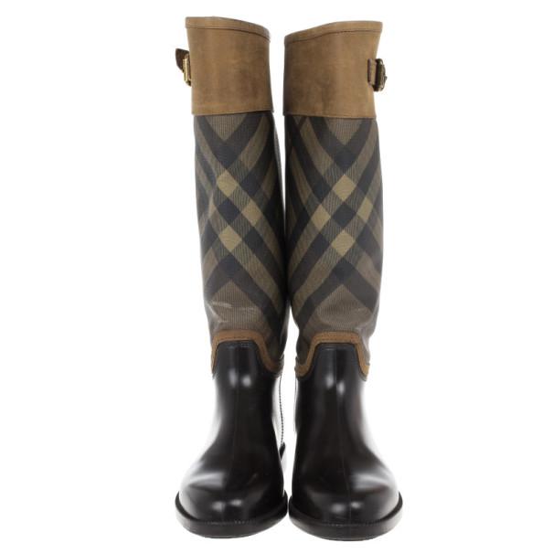 Burberry Novacheck Panel Rain Boots Size 39