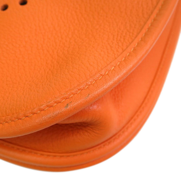 Hermes Orange Epsom Leather Evelyne PM 3