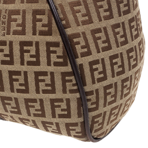 Fendi Zucca Canvas Medium Shoulder Bag