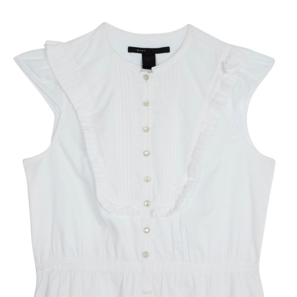 Marc Jacobs White Cotton Dress M