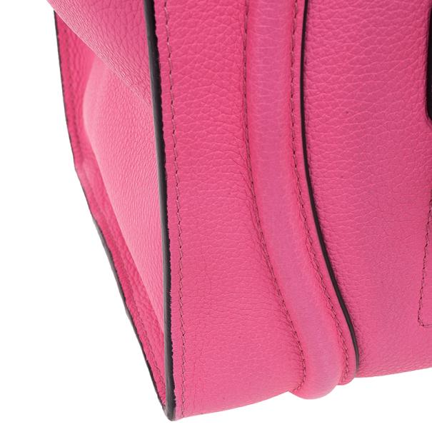 Celine Fluo Pink Mini Luggage Tote