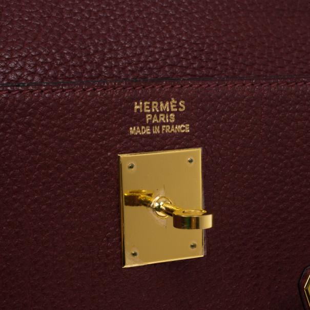 Hermes Prune Negonda Calfskin Kelly 35