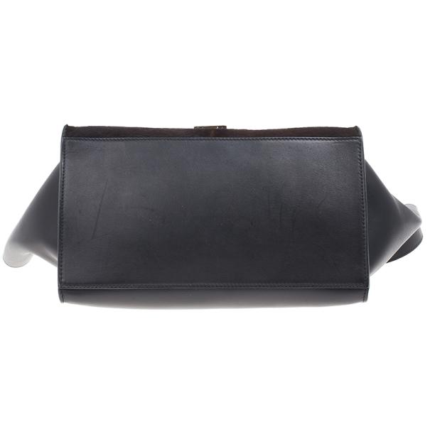 Celine Dark Brown Calf Hair Trapeze Bag