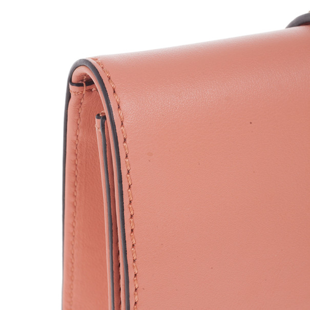Valentino Pink Garavani Rockstud Lock Clutch