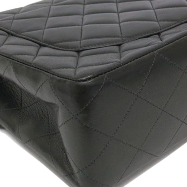 Chanel Black Lamb Skin Chain Small Shoulder Flap Bag