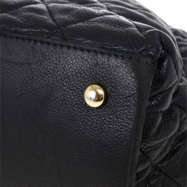 Chanel Black Lambskin Chain Me Tote Bag