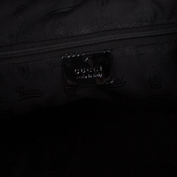 Gucci Black GG Canvas Small Tote