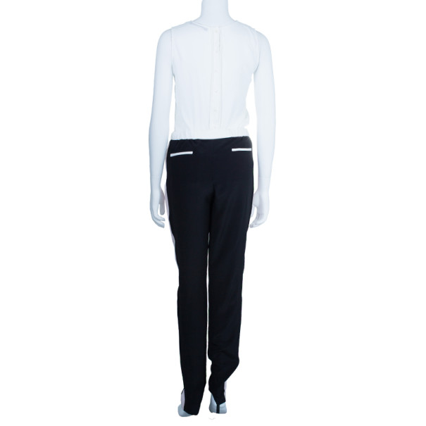 Prabal Gurung Contrast Striped Silk Pants S