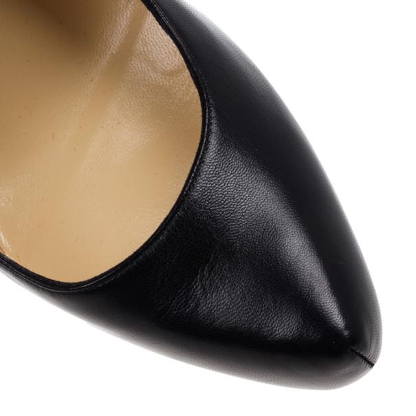 Christian Louboutin Black Leather Daffodile Platform Pumps Size 38