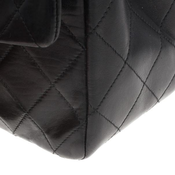 Chanel Black Vintage Lambskin Medium Classic Flap Bag