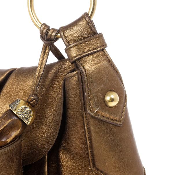 Saint Laurent Paris Metallic Bow Bag