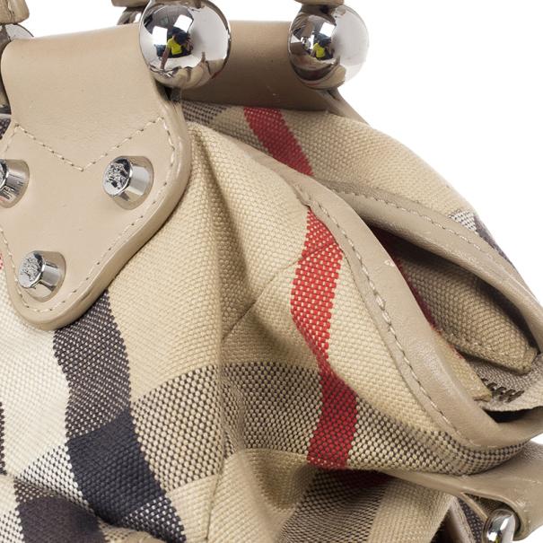 Burberry Nova Check Canvas Diaper Bag