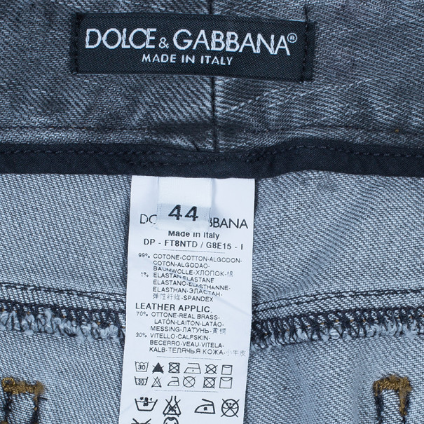 Dolce and Gabbana Grey Distressed Skinny Jeans M