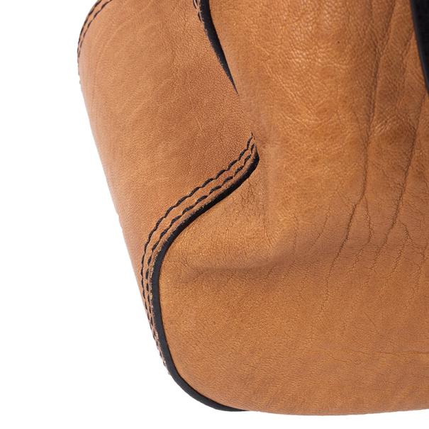 Fendi Brown Large Leather B Bag