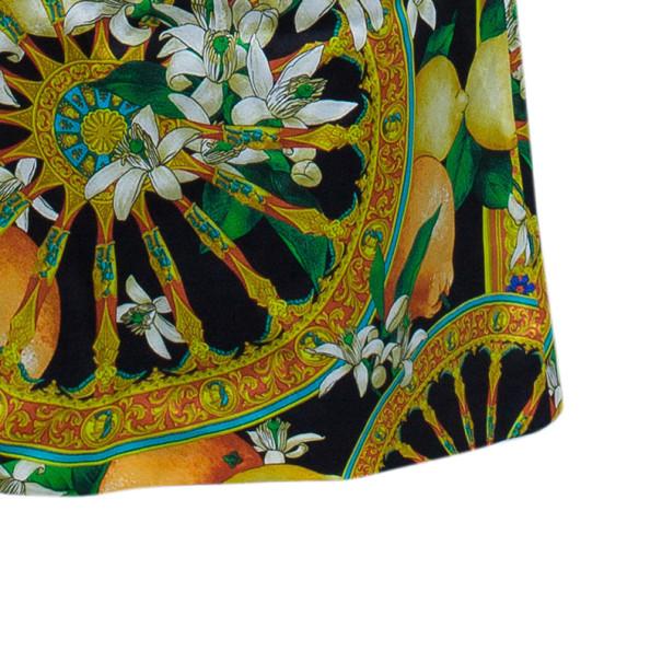 Dolce and Gabbana Scarf Print Silk Maxi Skirt M