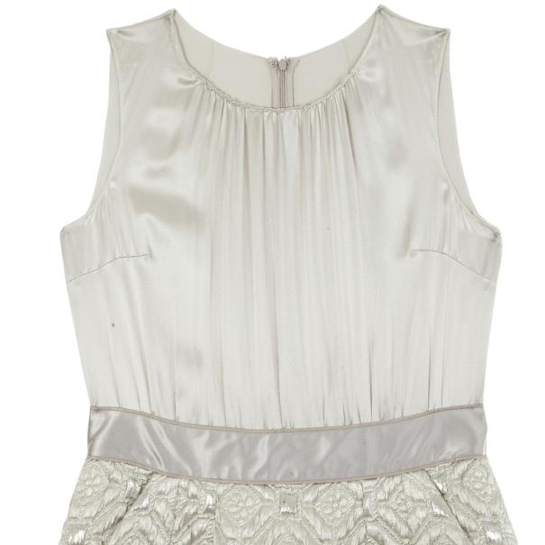 Dolce and Gabbana Brocade Sleeveless Dress L