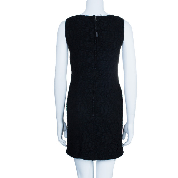 Dolce and Gabbana Black Lace Shift Dress M
