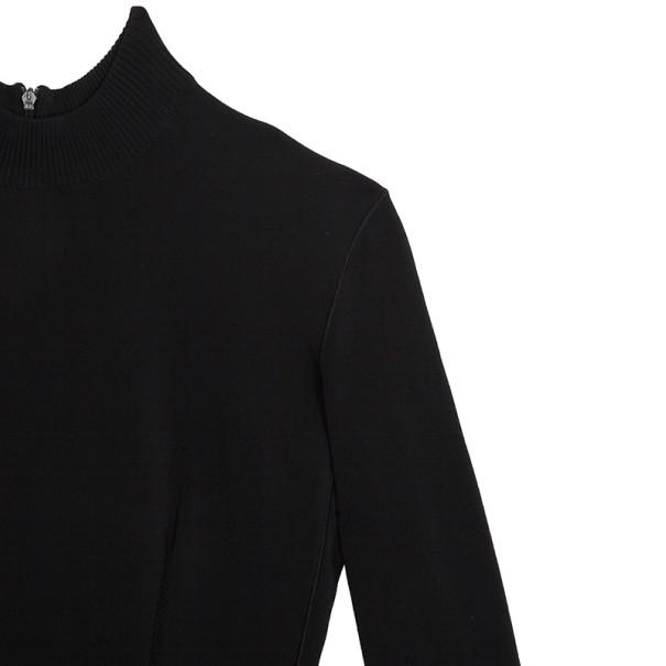 Azzedine Alaia Black Long Sleeve Dress XS