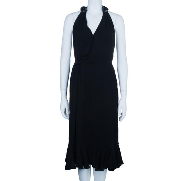 D and G Black Halter Embellished Dress M
