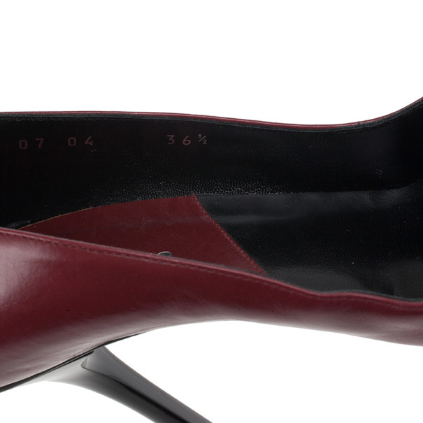 Dior Red Leather Heart Logo Pumps Size 36.5