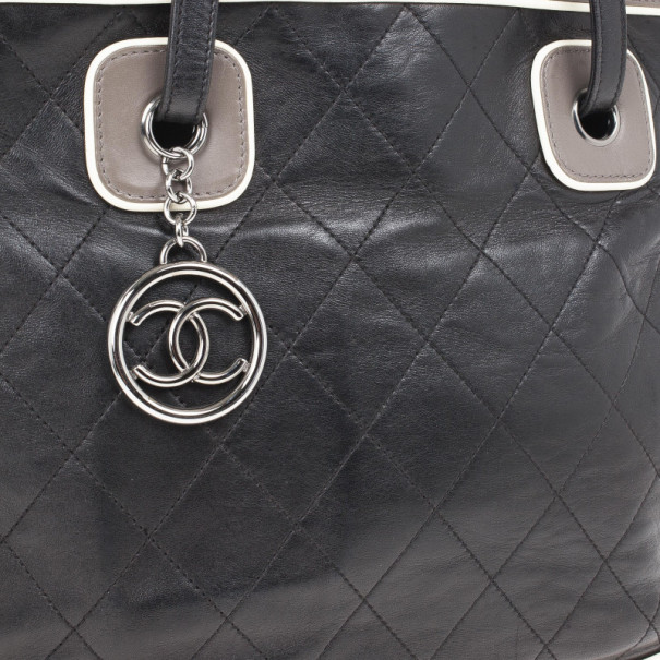 Chanel Tricolor Lambskin Leather Country Club Tote