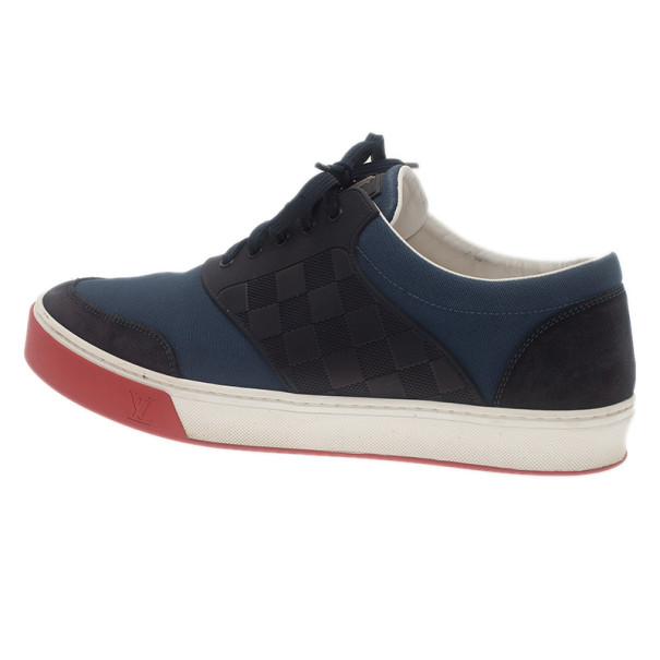 Louis Vuitton Two Tone Leather and Suede Sneakers Size 41