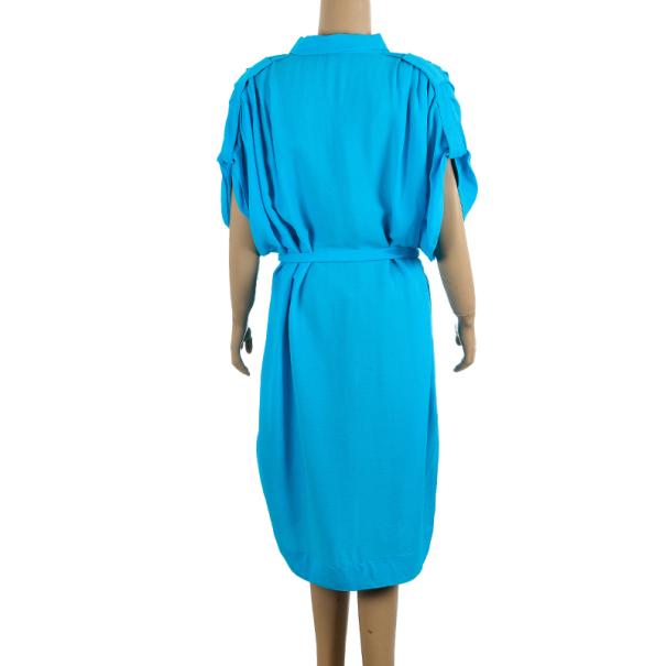 Diane Von Furstenberg Karin Kimono Sleeve Crepe Shirt Dress M