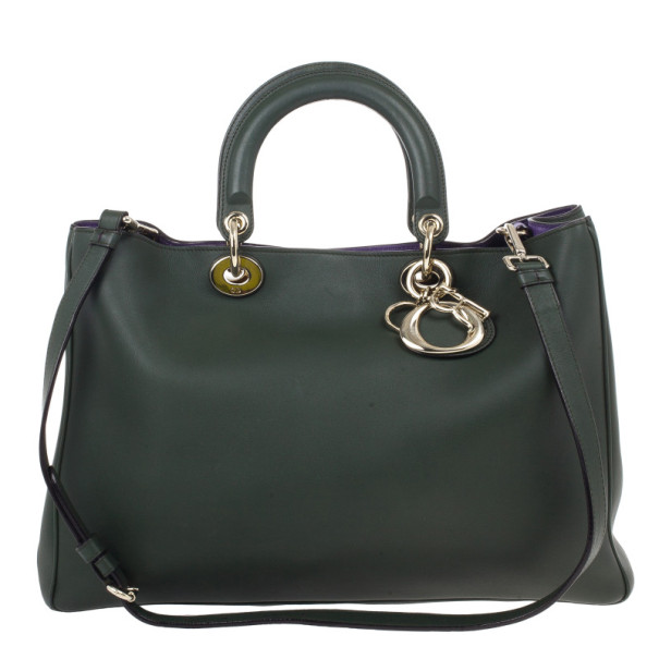 Dior Large Green Smooth Calfskin Diorissimo Bag