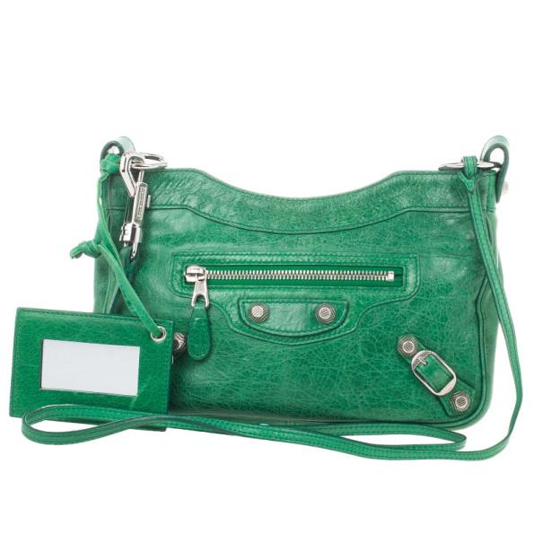 Balenciaga Green Lambskin Giant 12 Hip