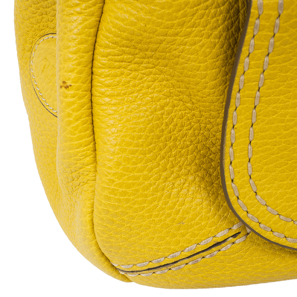 Tod's Yellow Leather Small Shoulder Bag