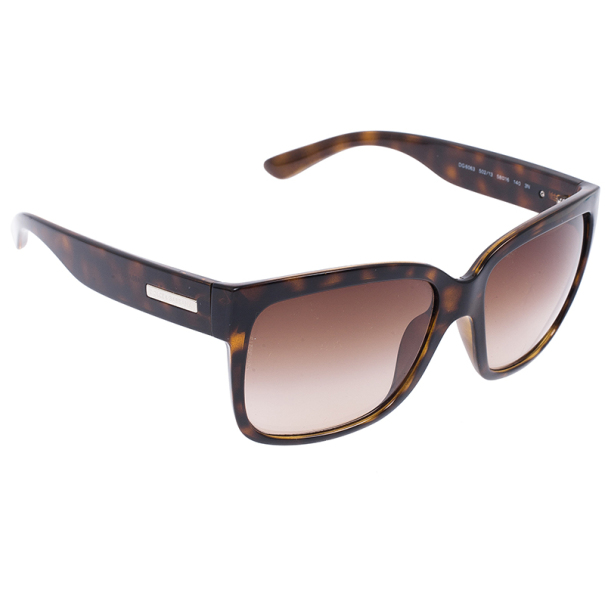 Dolce and Gabbana Leopard Frame Cat Eye Wayfarers