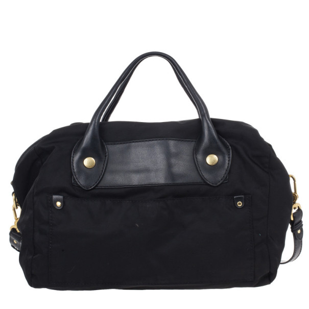 Marc by Marc Jacobs Black Preppy Nylon Pearl Satchel