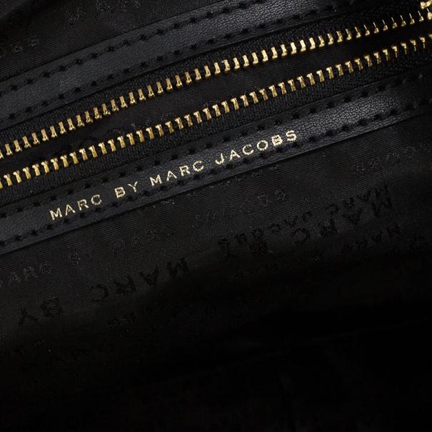 Marc by Marc Jacobs Black Preppy Nylon Pearl Satchel