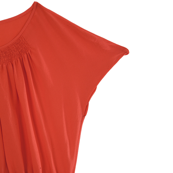 Prada Red Pleated Top M