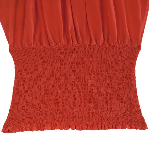Prada Red Pleated Top M