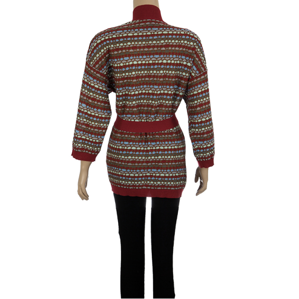 M Missoni Multicolor Long Cardigan M