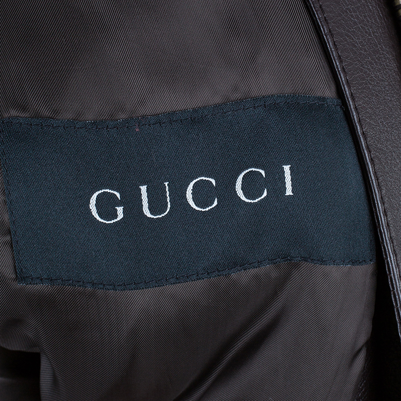 Gucci Brown Leather Jacket S