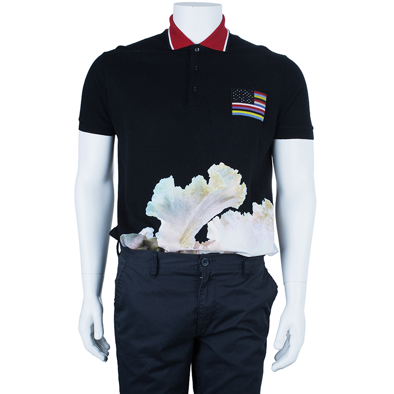 Givenchy Men's Printed Polo Shirt L