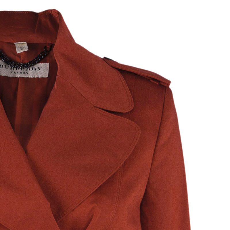 Burberry Red Trench Coat S