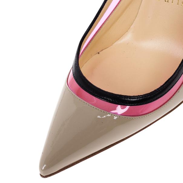 Christian Louboutin Beige Patent Paulina Pumps Size 38.5