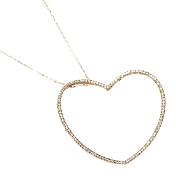 Pasquale Bruni Diamond Heart Rose Gold Pendant Necklace