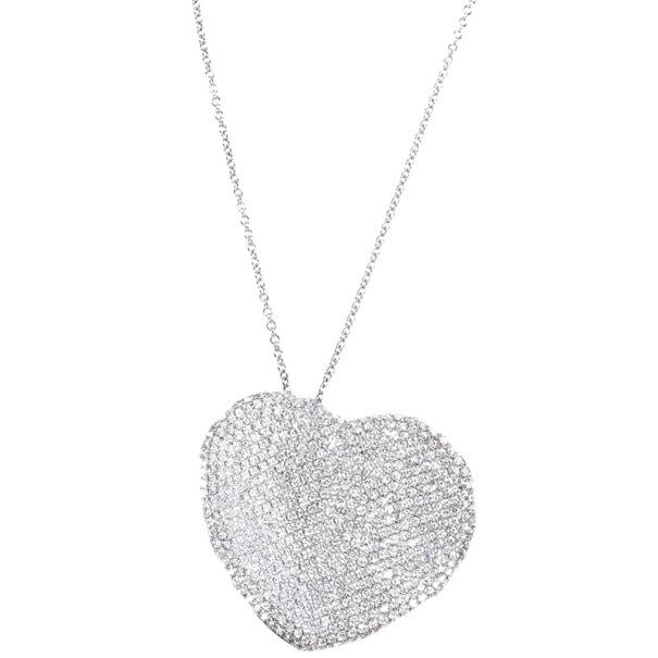 Pasquale bruni diamond pave setting heart white gold pendant prevnext aloadofball Choice Image