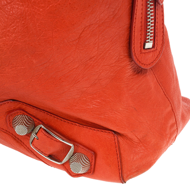 Balenciaga Orange Lambskin Giant Step