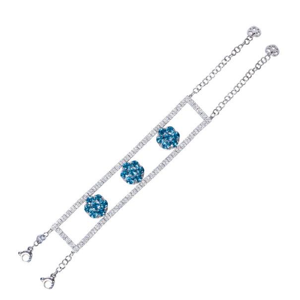 Pasquale Bruni Diamond and Colored Gemstones Bracelet 22 CM