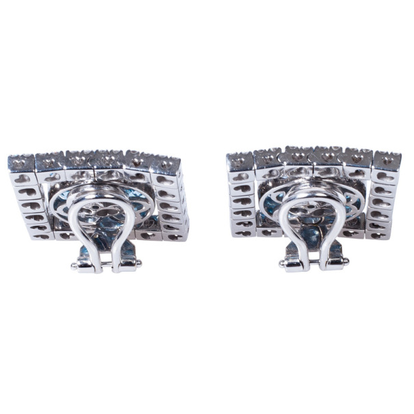 Pasquale Bruni Diamond and Colored Gemstones Clip Earrings
