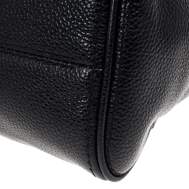 Carolina Herrera Black Minueto Flap Bag