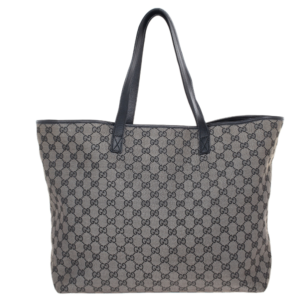 Gucci GG Monogram Canvas & Leather Large Tote
